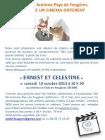 CINE TED DIT 19 oct 13 Ernest et Célestine