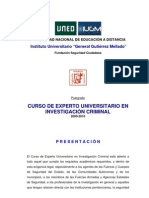 PROGRAMA-GUÍA CONTENIDO CURSO E.U. INVESTIGACION CRIMINAL- IUGM-UNED 2009-2010