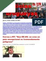 Noticias Uruguayas Jueves 10 de Octubre Del 2013