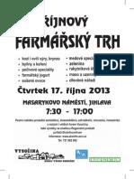Farmářské trhy - říjen 2013