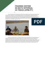 In House Training Sistem Penjaminan Mutu Internal Perguruan Tinggi