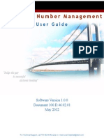 Telephone Number Manager User Guide Draft