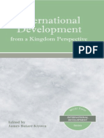 International Development From a Kingdom Perspective