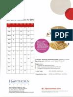 Test Dates 2013_Hawthorn