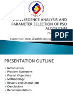 Convergence Analysis and Parameter Selection of Pso Algorithm