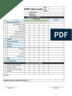 Inspection Format Sheet Metal