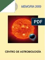 Memoria 2009 - Centro de Astrobiologia