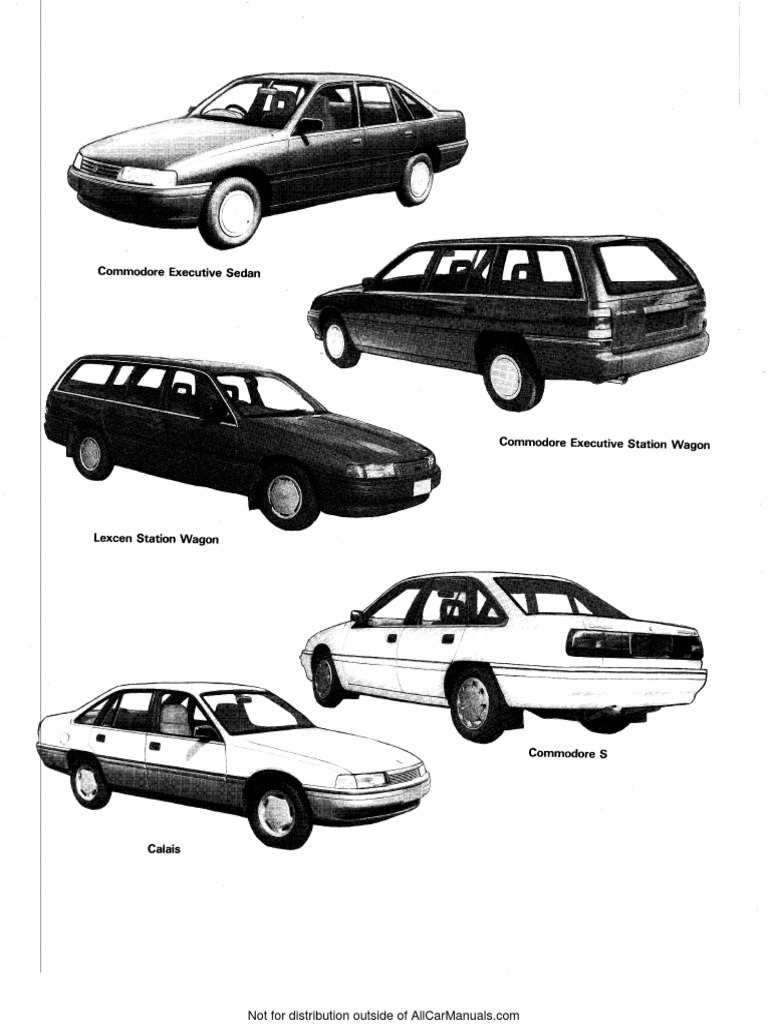VN VP Commodore Calais Workshop Manual | Tire | Steering