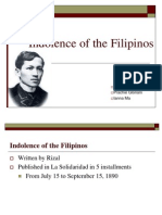 Rizal Indolence of the Fil.
