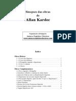 Sinopse das Obras de Allan Kardec (Autores Espíritas Clássicos)