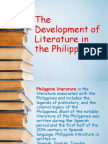 The Development of Literature in the Philippines