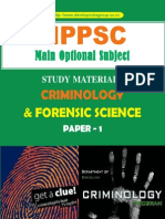 Criminology and Forensic Science Paper I Content