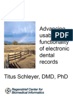 Advancing usability and functionality of electronic dental records