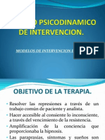 Modelo Psicodinamico de Intervencion