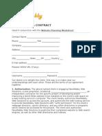 Newwebby Website Planning Worksheet