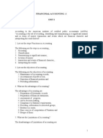 Financial accounting-short answers revision notes