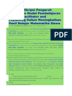 Proposal Skripsi Pengaruh Penerapan Model Pembelajaran Student Facilitator and Explaining Dalam Meningkatkan Hasil Belajar Matematika Siswa