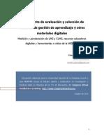 Instrumento de evaluación de LMS, materiales educativos digitales y recursos de la WEB 3.0