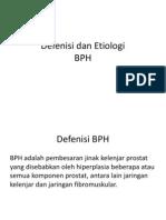 Defenisi Dan Etiologi BPH