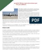 El sector aeroespacial de México, Economia