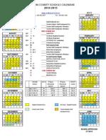 Madison County Schools 2014-2015 Calendar