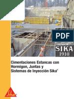 Cimentaciones Estancas Con Hormigon, Juntas y Sistemas de Inyeccion Sika