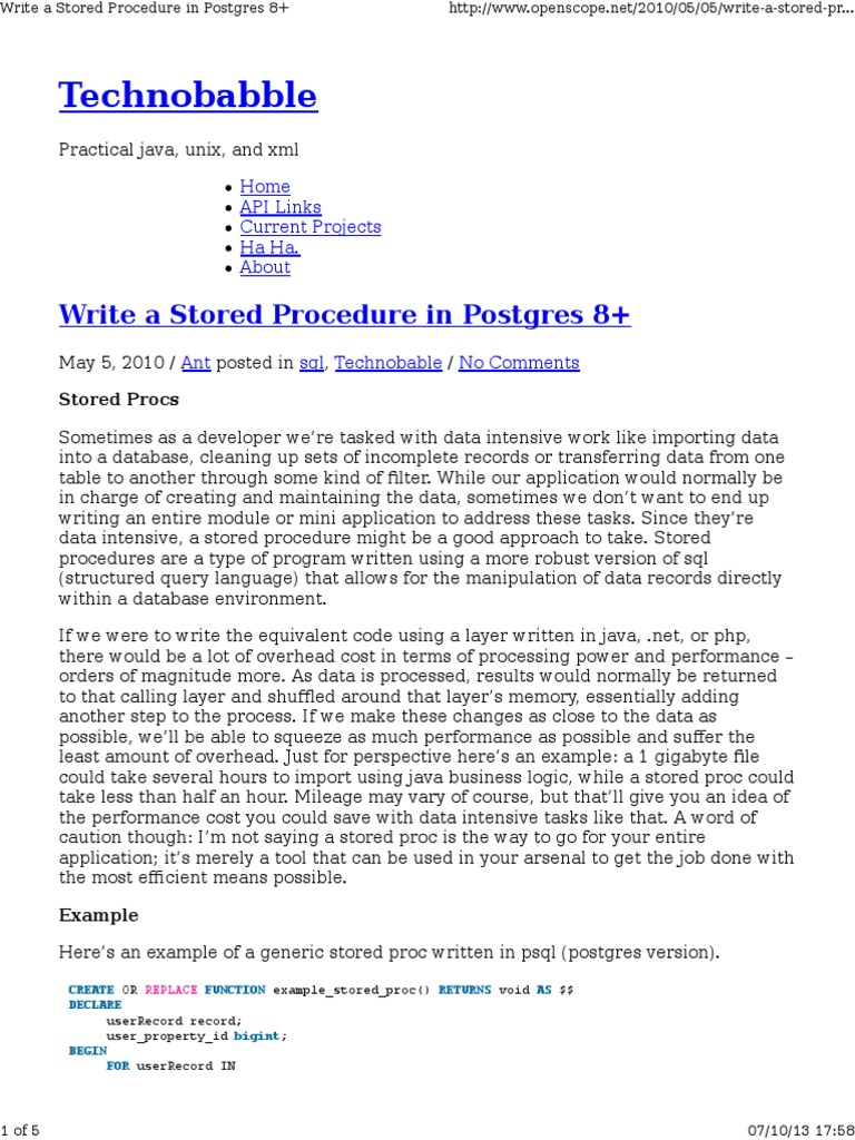 Postgresql Procedures | Postgre Sql | Control Flow