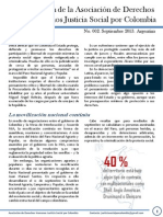 Boletin 2 de Derechos Humanos. Septiembre 2013