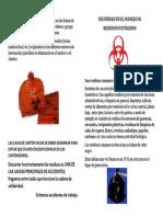 SEGURIDAD EN EL MANEJO DE RESIDUOS PATÓGENOS
