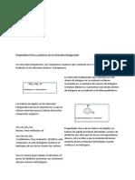 Propiedades Físicas y químicas de los Derivados Halogenados
