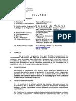 Silabo de Mercado de Valores Complem. Tecnol. Oct 2012