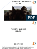 Fresher's Quiz 2013 Prelim Answers