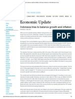 Indonesia Tries to Balance Growth and Inflation (Sep 2013, 02)