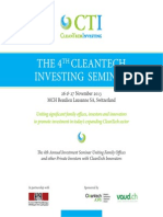 4th CleanTech Investing Seminar