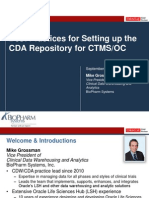 2013 OHSUG - Best Practices for Setting up the CDA Repository for CTMS/OC
