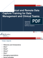 2013 OHSUG - Oracle Clinical and RDC Training for Data Management and Clinical Teams