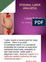 2. Dr. i Gede - Epidural Labor Analgesia Dr Gede Edit Ok