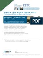 Medical Informatics Update 2013 Program