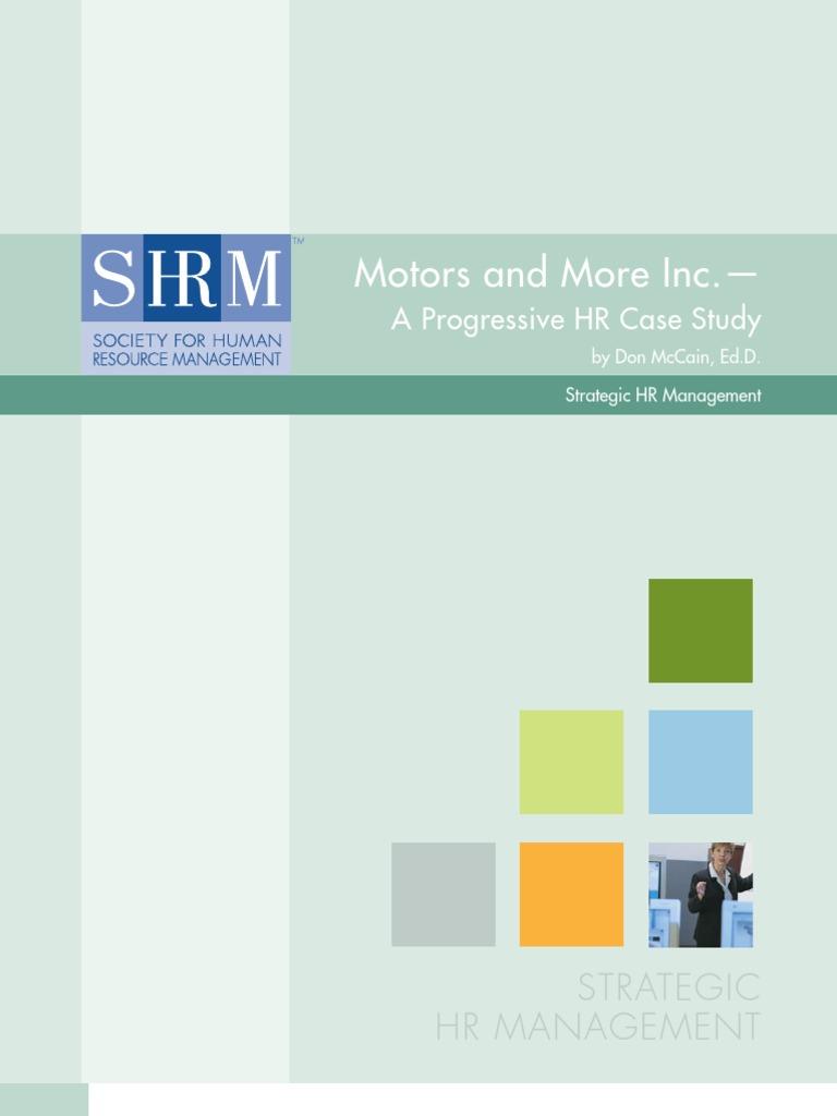 Motors And More Inc Progressive Hr Case Employee Retention