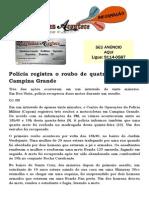 Polícia registra o roubo de quatro motos em Campina Grande