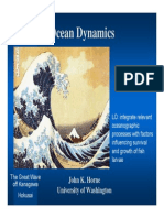 Ocean Dynamics -  oceanographic processes with factors influencing survival and growth of fish