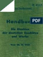 """""""D435/1"""" Handbuch. Die Muniton der deutschen Geschutze und Werfer"""