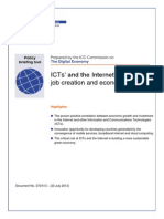 ICTs' and the Internet's impact on job creation and economic growth