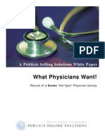 "What Physicians Want - Results of a Sermo ""Hot Spot"" Physician Survey"