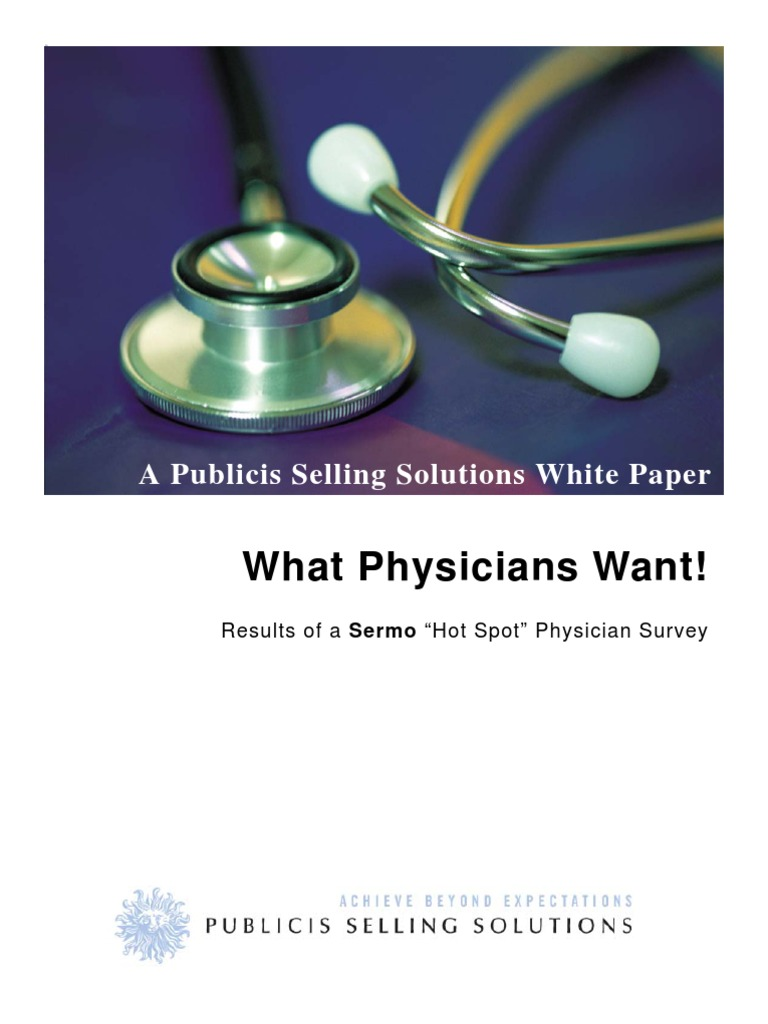 """What Physicians Want - Results of a Sermo """"Hot Spot"""