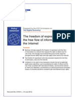 Freedom of Expression and the Free Flow of Information on the Internet
