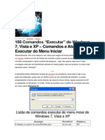 150 Comandos Executar Do Windows 7, Vista e XP