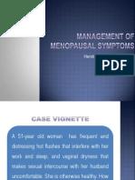 Management of Menopausal Symptoms Journal