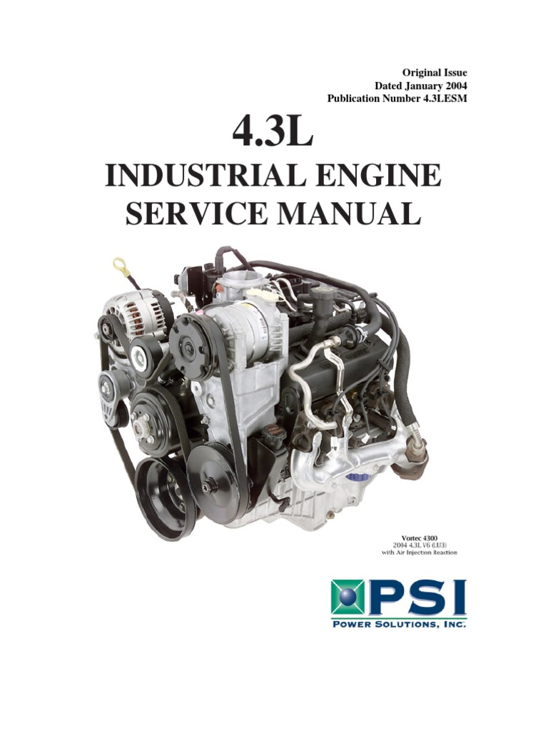 Industrial Engine Service Manual: Original Issue Dated