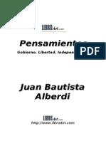 Alberdi j Bautista - Pensamientos